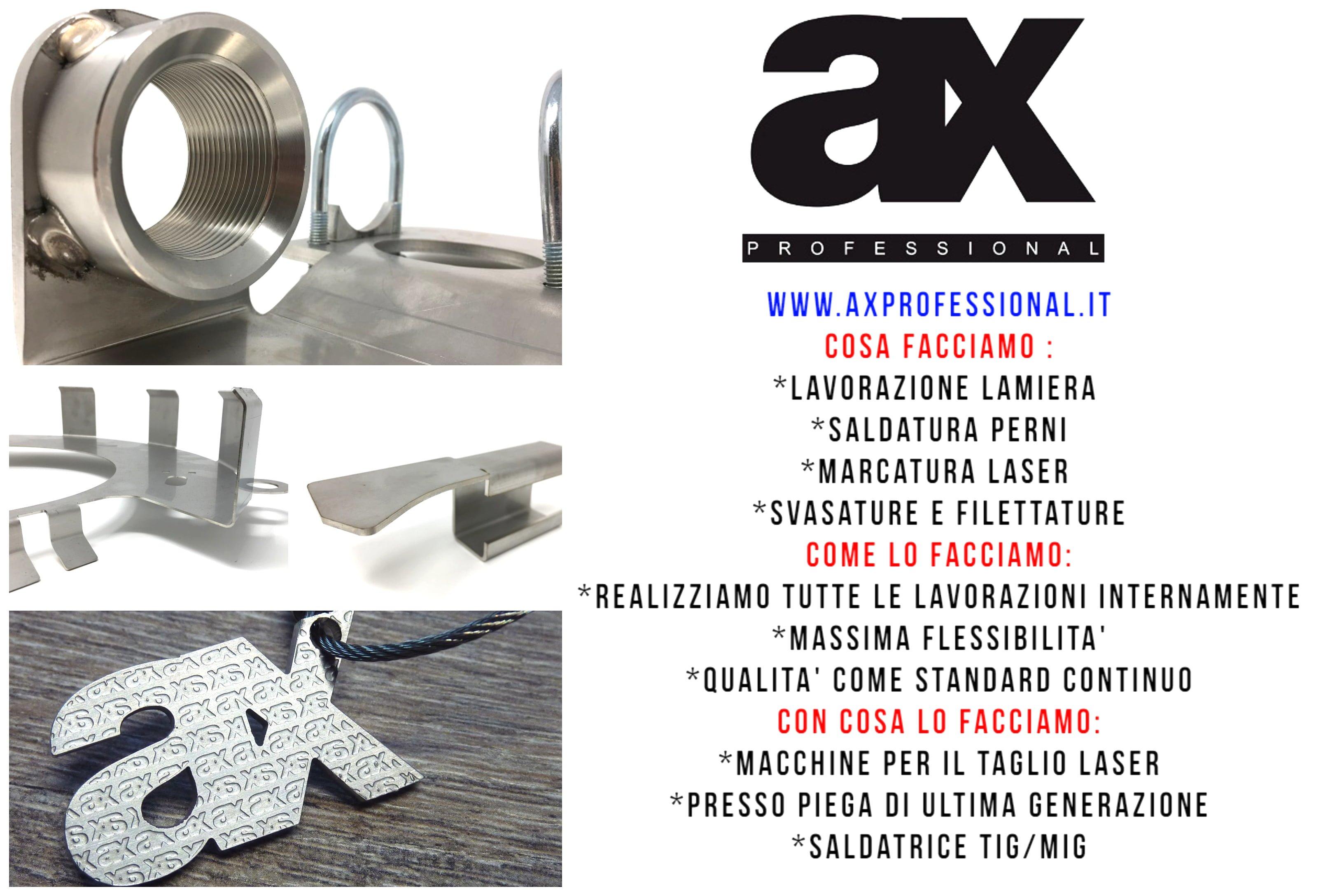 Elenco servizi taglio laser AX PROFESSIONAL